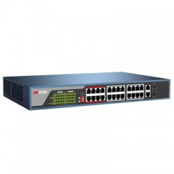 Switch mạng 24 cổng PoE DS-3E0326P-E(B), 2 uplink 10/100/1000M