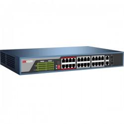 Switch mạng 24 cổng PoE DS-3E0326P-E/M(B), 2 uplink 10/100/1000M