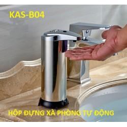 Bình đựng xà phòng, dung dịch sát khuẩn cảm ứng tự động KAS-B04 - 280ml - Dùng pin - (Để Bàn)