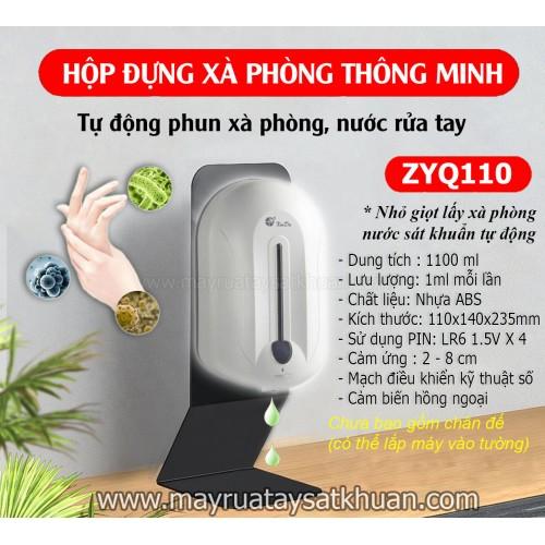 Hộp đựng dầu gội nước rửa tay cảm ứng tự động ZYQ110 1100ml, đại lý, phân phối,mua bán, lắp đặt giá rẻ