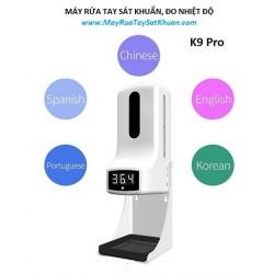 Máy xịt phun rửa tay khử khuẩn tự động kết hợp đo thân nhiệt K9 Pro Plus