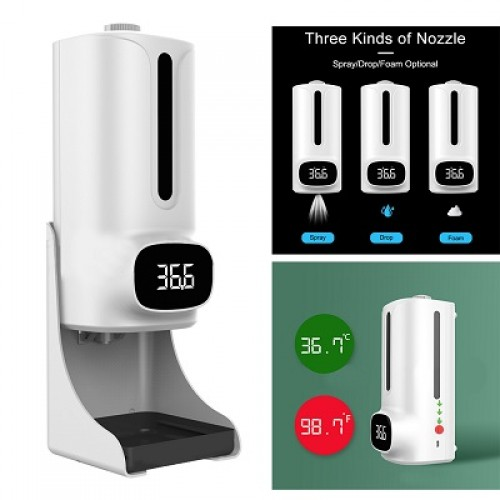 Máy xịt phun rửa tay khử khuẩn tự động kết hợp đo thân nhiệt K9 Pro Plus, đại lý, phân phối,mua bán, lắp đặt giá rẻ