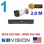 Trọn gói 1 camera KBVISION KX2001C4 Full HD 1080P