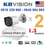 Lắp trọn gói 2 camera KBVISION 1.3 Megapixcel
