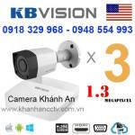 Lắp trọn gói 3 camera KBVISION 1.3 Megapixcel
