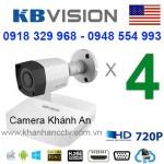 Trọn gói 4 camera KBVISION HDCVI 720P