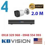 Trọn gói 4 camera KBVISION KX2001C4 Full HD 1080P