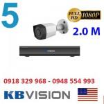 Trọn gói 5 camera KBVISION KX2001C4 Full HD 1080P