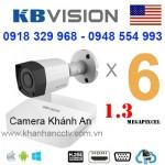 Lắp trọn gói 6 camera KBVISION 1.3 Megapixcel