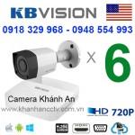 Trọn gói 6 camera KBVISION HDCVI 720P