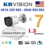 Lắp trọn gói 7 camera KBVISION 1.3 Megapixcel