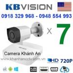 Trọn gói 7 camera KBVISION HDCVI 720P