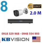Trọn gói 8 camera KBVISION KX2001C4 Full HD 1080P