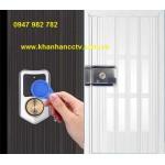 Khóa cổng thẻ từ dùng Pin AXL-065, Remote