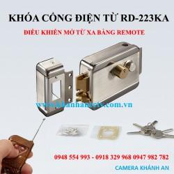 Khóa điện mở cổng bằng remote + chìa khóa RD-223KA
