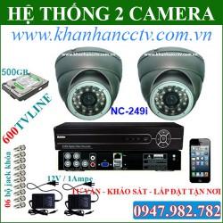 Bộ 2 camera Nichietsu NC - 2105D