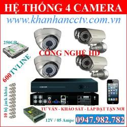Bộ 4 camera Nichietsu NC-3605DT
