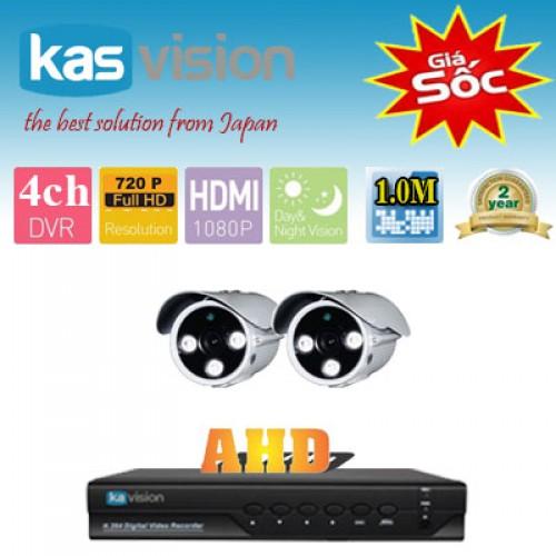 Lắp trọn gói 2 camera AHD 1MP, đại lý, phân phối,mua bán, lắp đặt giá rẻ