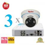 Lắp đặt camera trọn gói 3 camera AHD 1.3M tại tp hcm