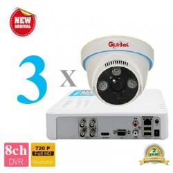 Lắp đặt camera trọn bộ 3 camera 2.0M giá rẻ tại Tp HCM