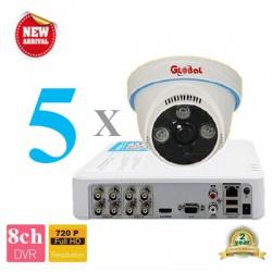Lắp đặt camera trọn bộ 5 camera 2.0M giá rẻ tại Tp HCM