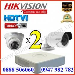 Lắp đặt camera trọn bộ 2 camera 3.0 M giá rẻ tại Tp HCM