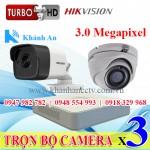 Lắp đặt camera trọn bộ 3 camera 3.0 M giá rẻ tại Tp HCM