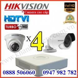 Lắp đặt camera trọn bộ 4 camera 3.0 M giá rẻ tại Tp HCM