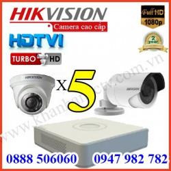Lắp đặt camera trọn bộ 5 camera 3.0 M giá rẻ tại Tp HCM
