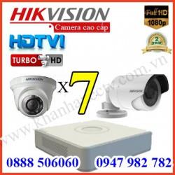 Lắp đặt camera trọn bộ 7 camera 3.0 M giá rẻ tại Tp HCM