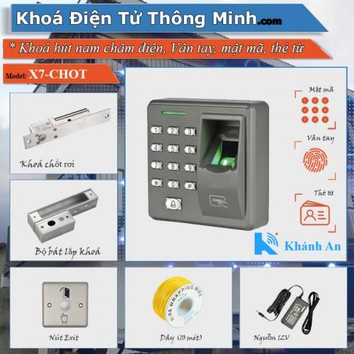 Bộ kiểm soát ra vào dùng vân tay, thẻ từ kobio x7 cửa kính, đại lý, phân phối,mua bán, lắp đặt giá rẻ
