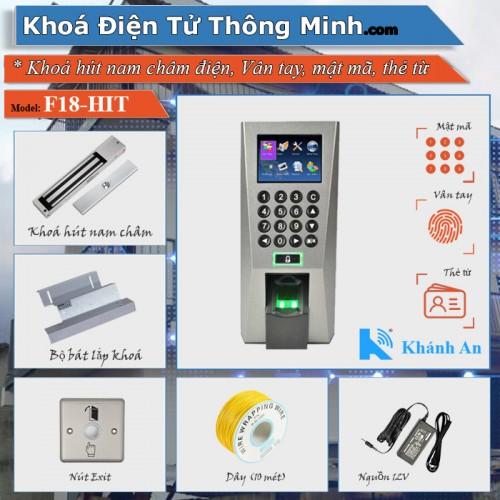 Bộ kiểm soát cửa vân tay thẻ từ F18 (khóa hít nam châm), đại lý, phân phối,mua bán, lắp đặt giá rẻ