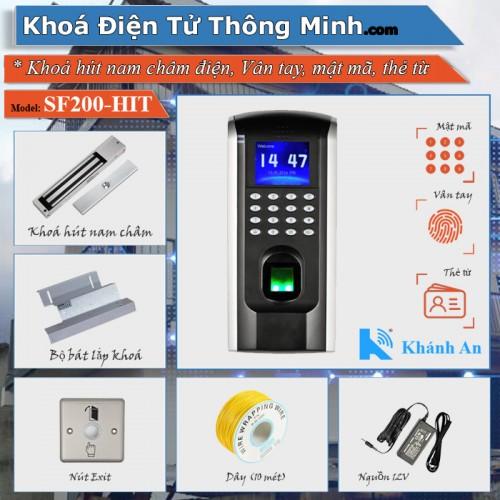 Bộ khóa Cổng SF200 kiểm soát bằng Vân tay mật mã thẻ từ, đại lý, phân phối,mua bán, lắp đặt giá rẻ