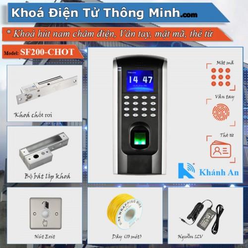 Bộ kiểm soát cửa vân tay thẻ từ SF200 cho cửa Kính, đại lý, phân phối,mua bán, lắp đặt giá rẻ