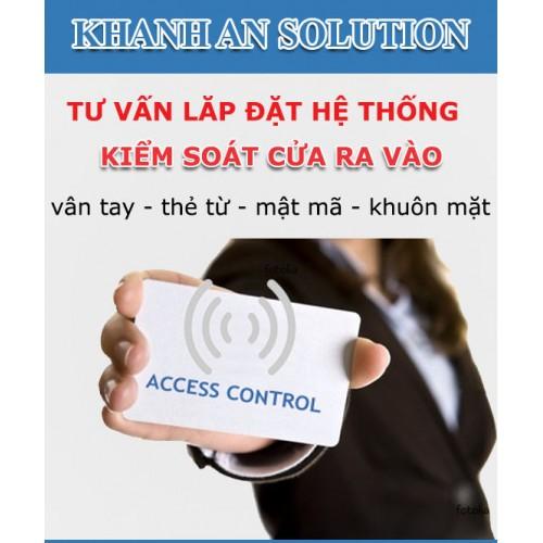Lắp đặt kiểm soát cửa ra vào bằng thẻ từ, vân tay, mật mã