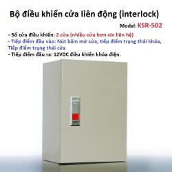 Bộ tủ điều khiển liên động 2 cửa KSR-502 interlock (full phụ kiện)