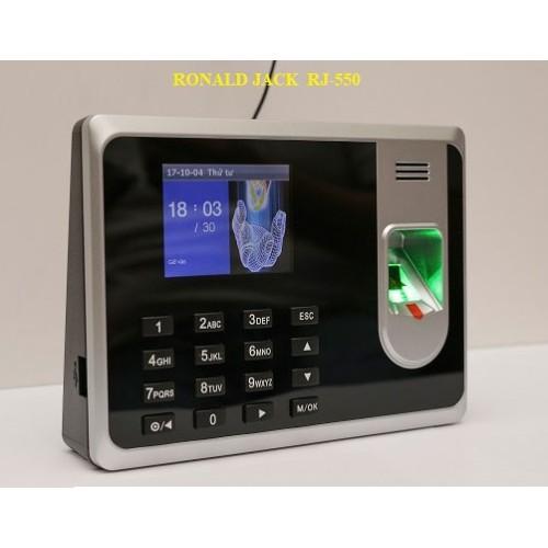 Máy chấm công vân tay & thẻ cảm ứng ronald jack RJ-550A, đại lý, phân phối,mua bán, lắp đặt giá rẻ