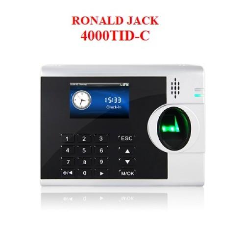 Máy chấm công vân tay, thẻ từ RONALD JACK 4000TID, đại lý, phân phối,mua bán, lắp đặt giá rẻ