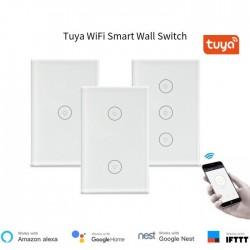 Công tắc WIFI Tuya Smart DW-M1US 1 nút, điều khiển bằng điện thoại