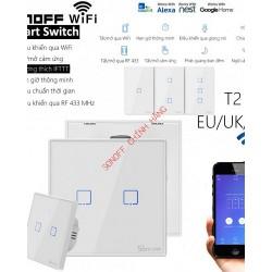 Công tắc WiFi RF cảm ứng T2 1 cổng SONOFF T2US1C (chữ nhật)