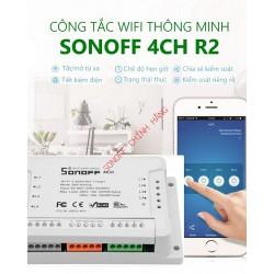 Công tắc WiFi 4 cổng SONOFF 4CH R2 / 4CH