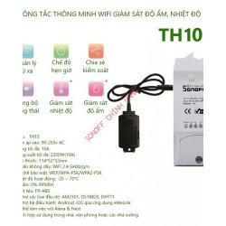 Công tắc WiFi thông minh đo lường nhiệt độ, độ ẩm SONOFF TH10