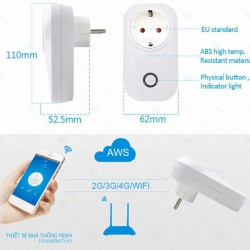 Ổ cắm điều khiển từ xa bằng WiFi 3G thông minh SONOFF S20