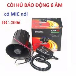 Còi hú báo động  có mic nói, 6 âm thanh DC-1705 12V, công suất lớn