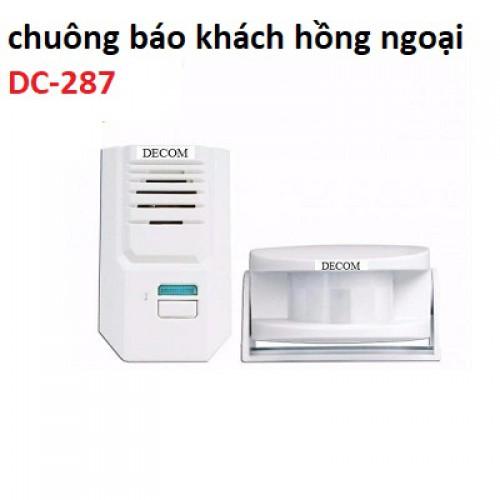 Chuông báo khách cảm ứng hồng ngoại không dây DC-287, đại lý, phân phối,mua bán, lắp đặt giá rẻ
