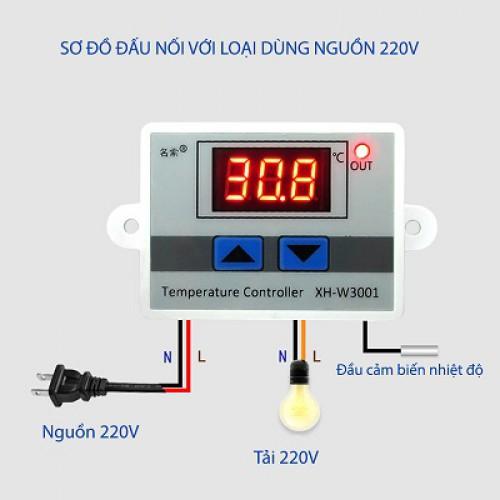 Bộ cảnh báo điều khiển theo nhiệt độ TR-W3001, đại lý, phân phối,mua bán, lắp đặt giá rẻ
