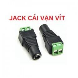 Đầu Jack nguồn DC CÁI, loại vặn vít