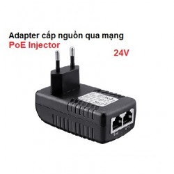 Adapter cấp nguồn qua mạng PoE Injector 24V cho camera, IP phone