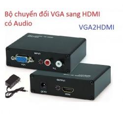 Bộ chuyển đổi VGA sang HDMI có Audio