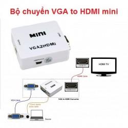 Bộ chuyển VGA to HDMI mini Converter